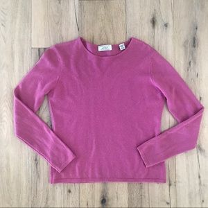 LORD & TAYLOR Bright Pink Cashmere Sweater